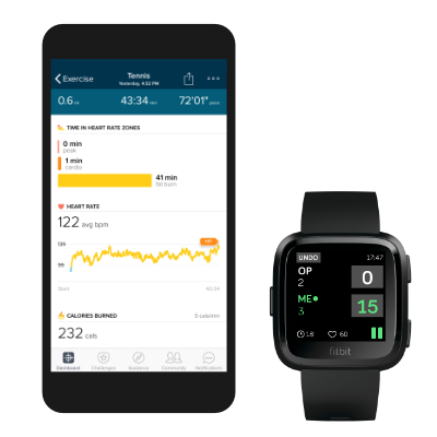 Automatically added to your Fitbit exercises history